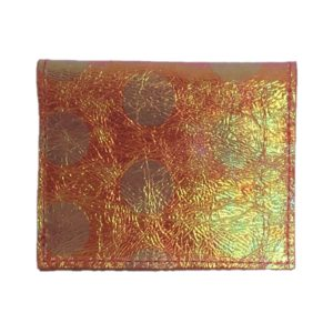 Porte cartes en cuir orange