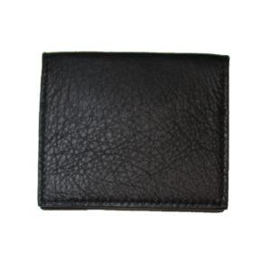 Porte cartes en cuir de vachette noir