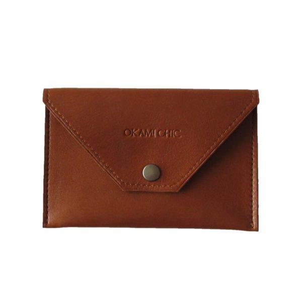Petite pochette en cuir véritable
