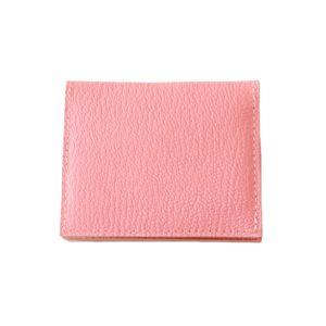 Porte cartes en cuir rose