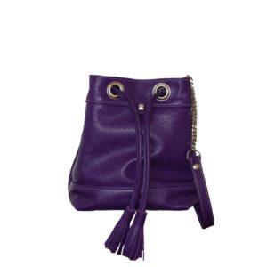 Sac à main en cuir violet